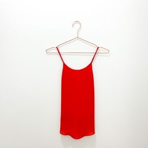 ZARA RED CAMISOLE WITH CUTOUT BACK